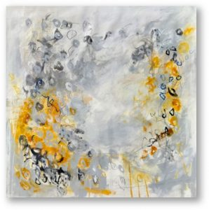 Cosmic, 2020, mixed media on canvas, 140 x 135 cm
