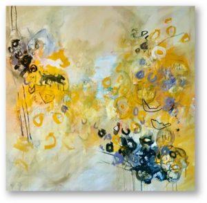 White Lion, Black Lion, mixed media on canvas, 135 x 140 cm