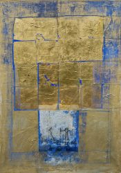 Mistery Wall, 2010, mixed media on canvas, 120 x 85 cm