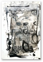unitled series black and white mixed media on photo paper ca. 10 x 15 cm